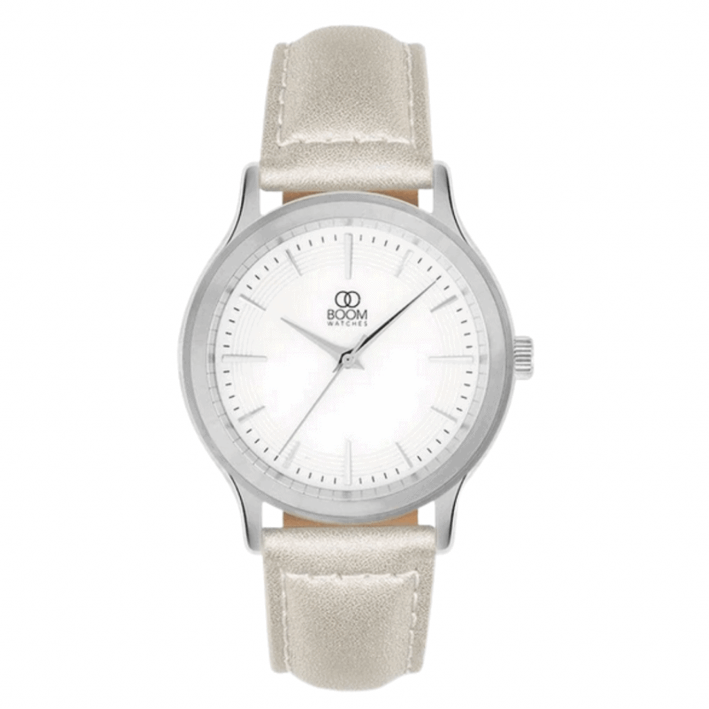 Swedish watch brand Boom's ladies vegan watch.