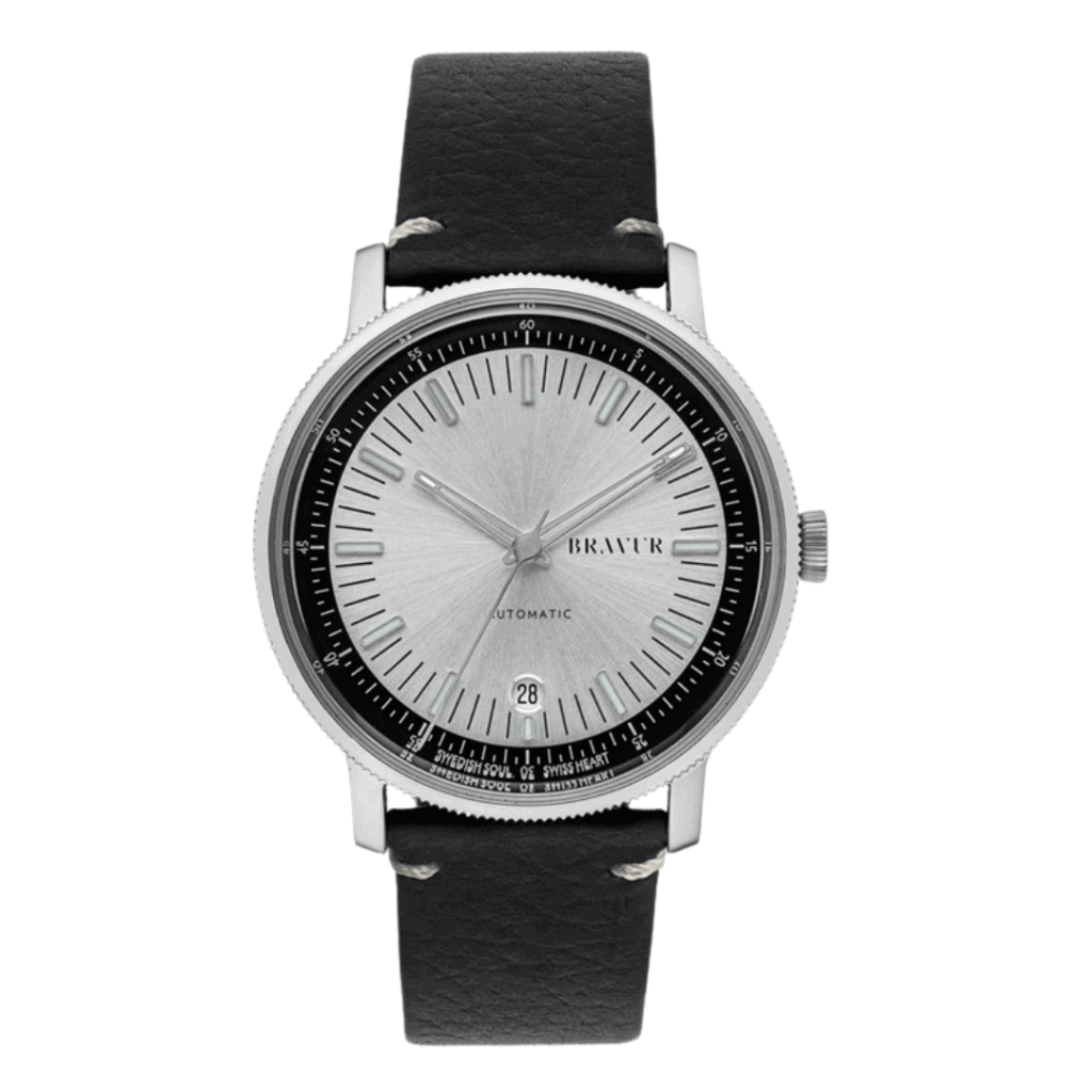 Automatic watch from the Swedish watch brand Bravur.