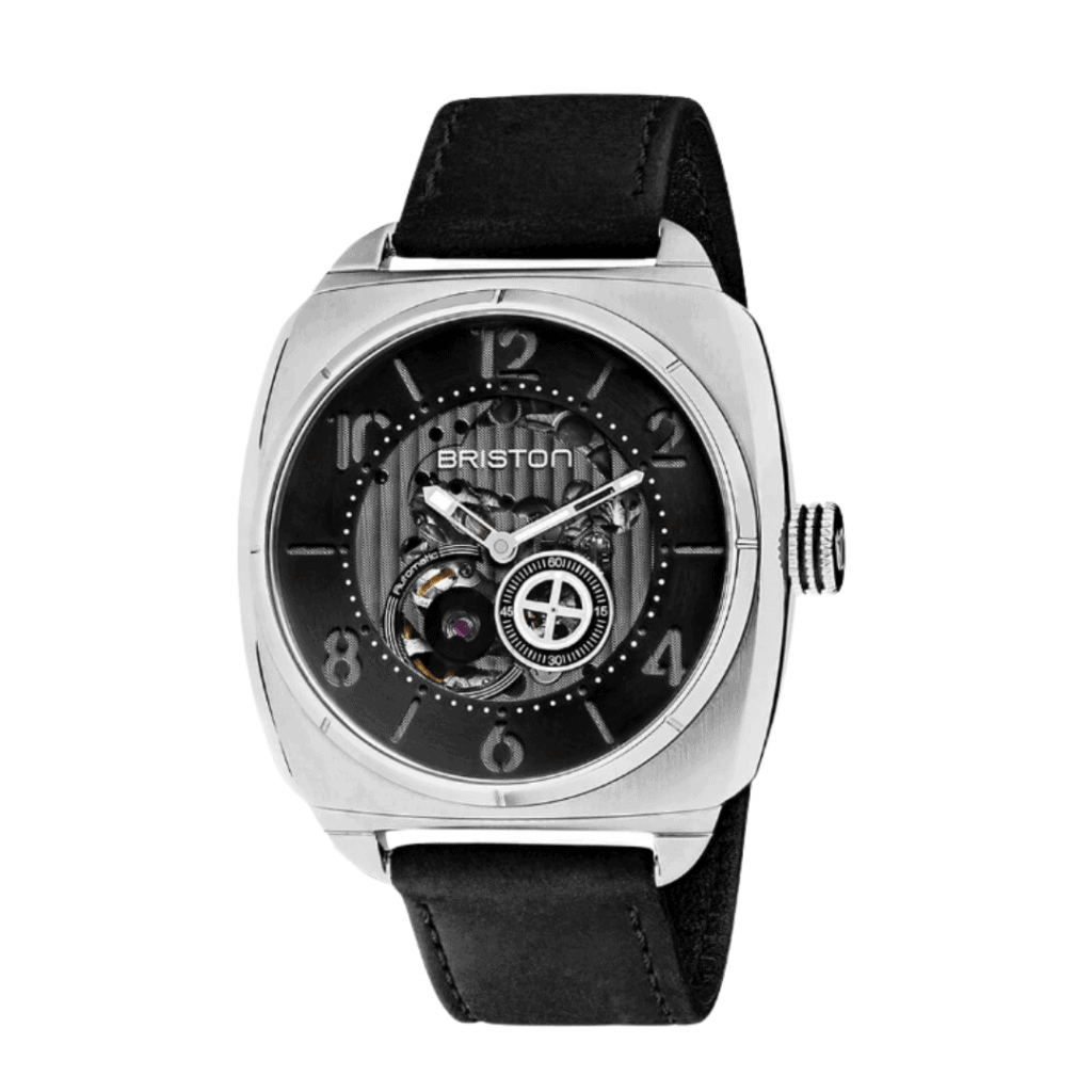 Skeleton watch from French watch brand.