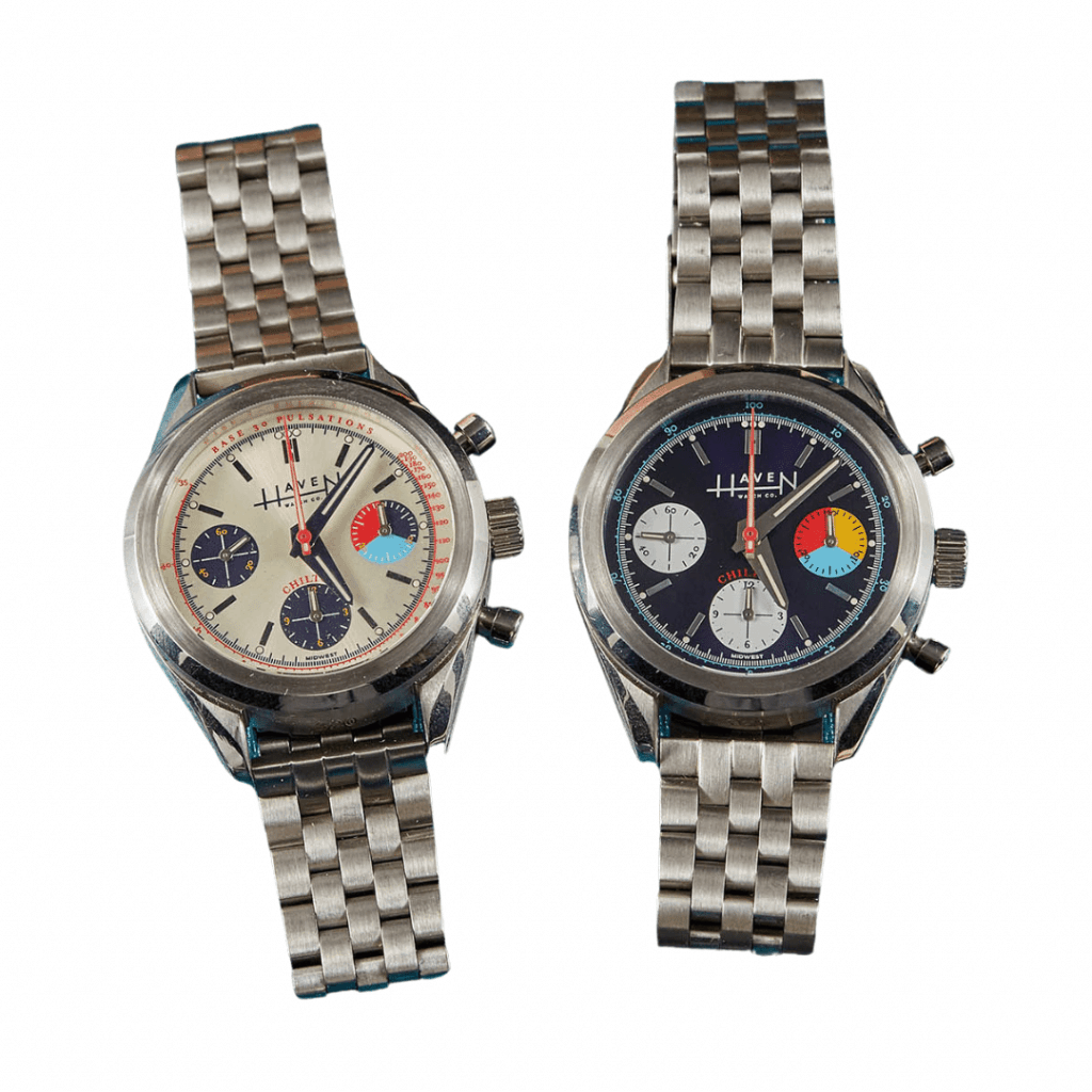 Two The Chilton watches from Haven Watch Co.