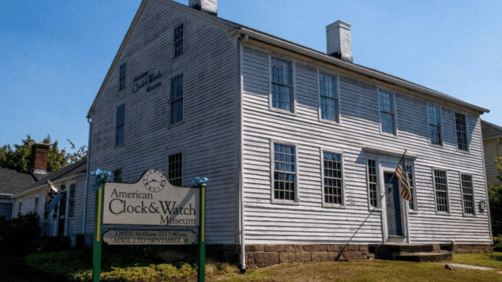The main building of the American Clock & Watch Museum in Bristol, USA