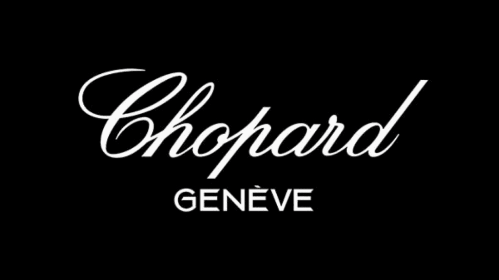 The logo of the watch brand Chopard