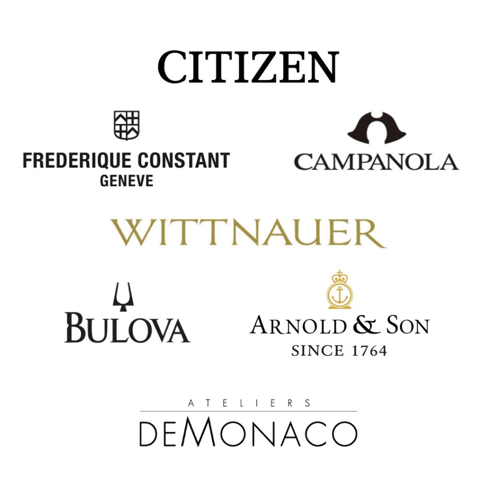Citizen Watch Group's brand logos