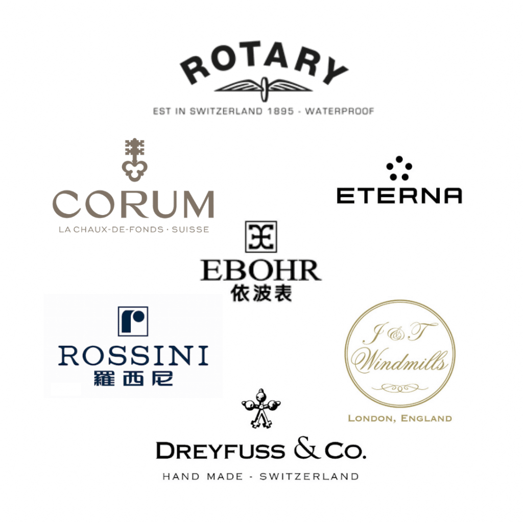 Brand logos of the CityChamp Watch Group