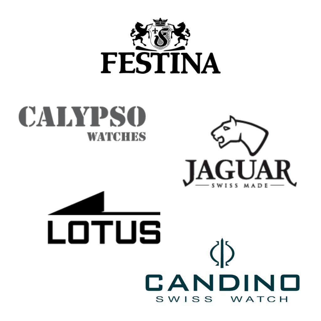 Brand logos of the Festina Watch Group