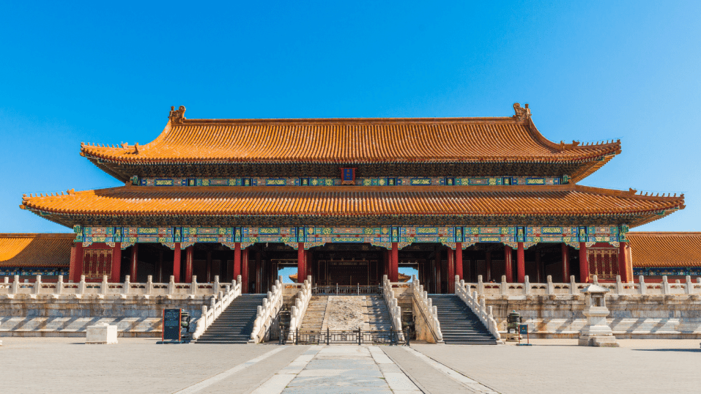 Forbidden City located in Beijing, China.