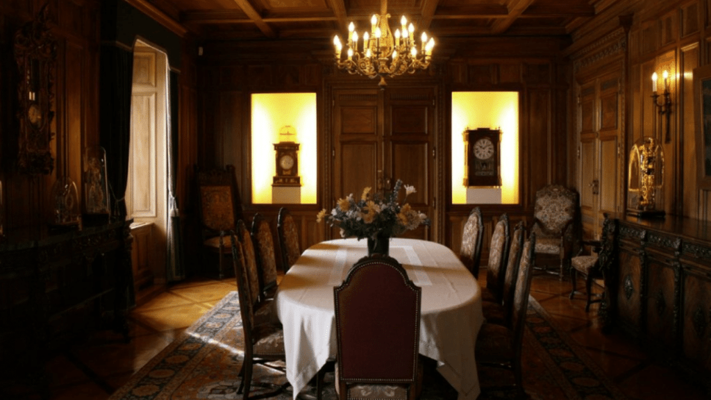 A sinning room inside the Watch Museum of Le Locle
