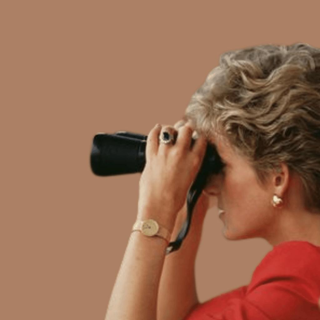 Photo of Princess Diana wearing her Patek Philippe Ref. 3618 watch