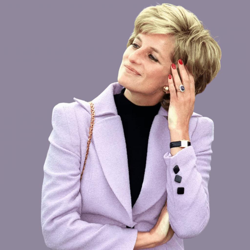 Photo of Diana wearing her Tank Louis Cartier watch