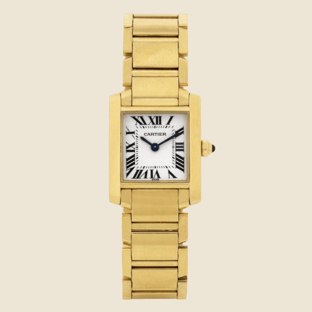 Photo of a Cartier Tank Française watch