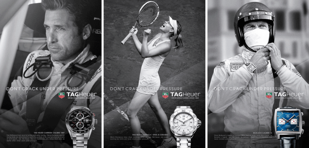TAG Heuer sports advertisements