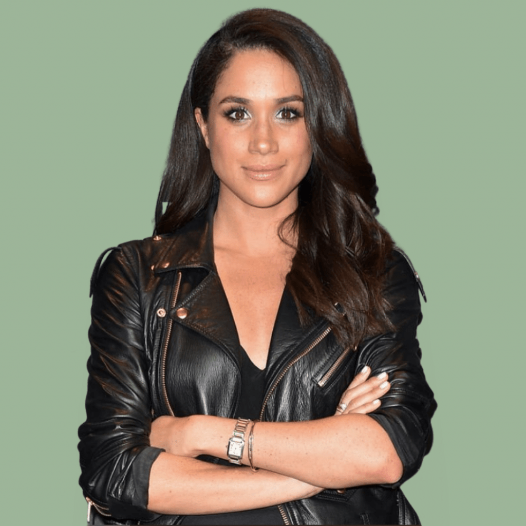 Photo of Meghan Markle wearing her own two-tone Cartier Tank Française