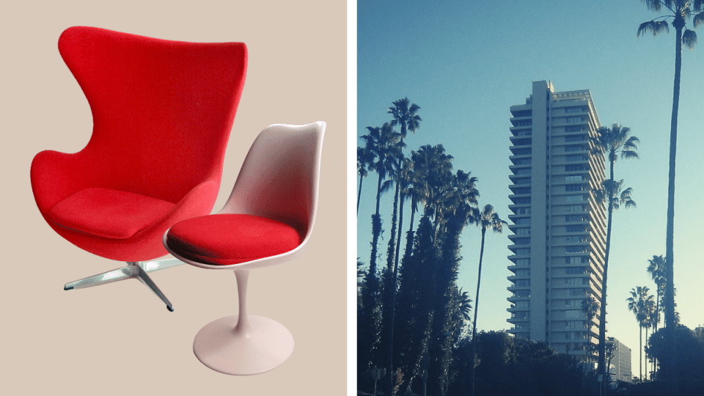 Photo Mid Century American Design Examples for furniture and architecture