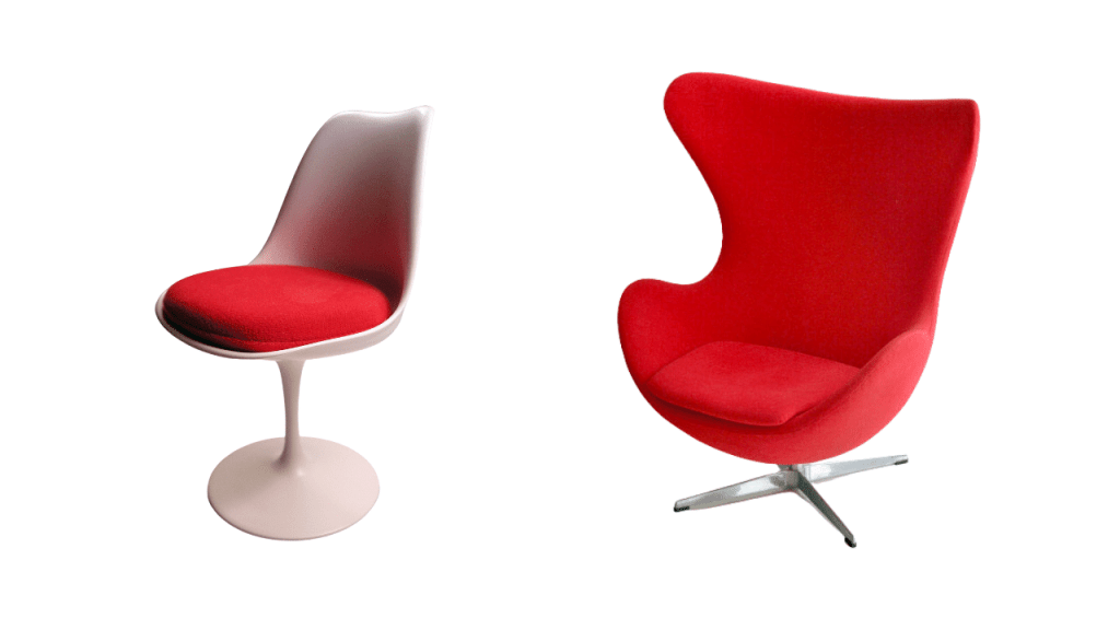 Furniture mid-century modern designs - two chairs