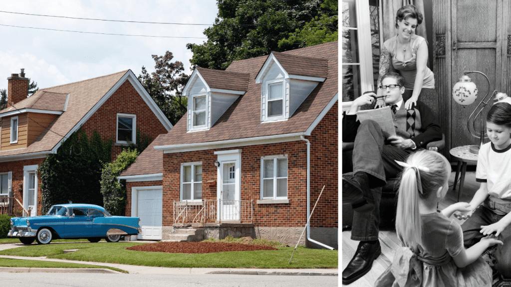 Photos of 1950s American style - the postwar economic boom