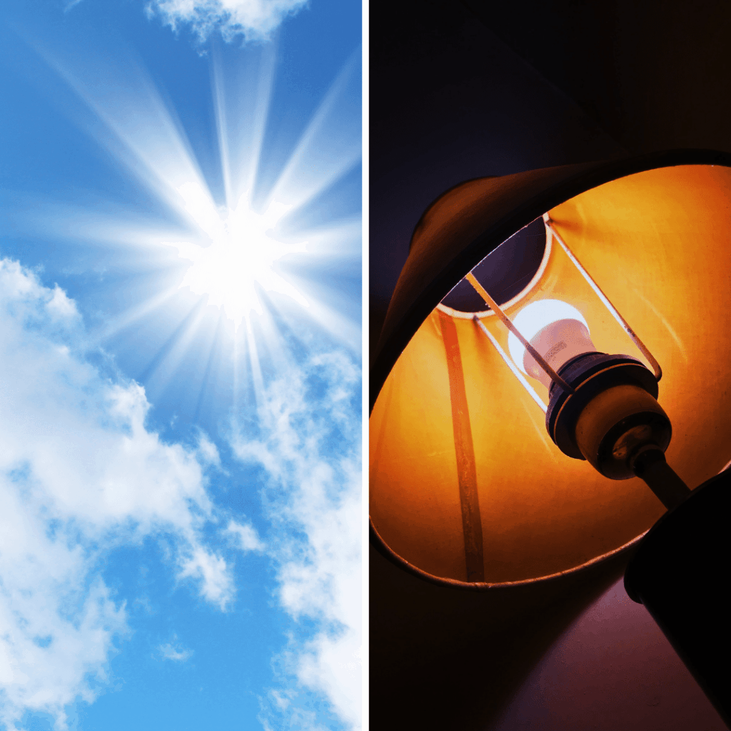 Sunlight and artificial light - light sources for solar watches