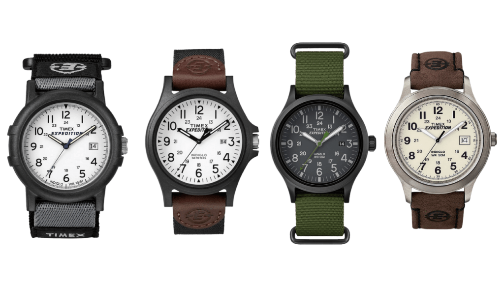 x4 Timex Expedition watches