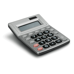 Picture of an old school calculator