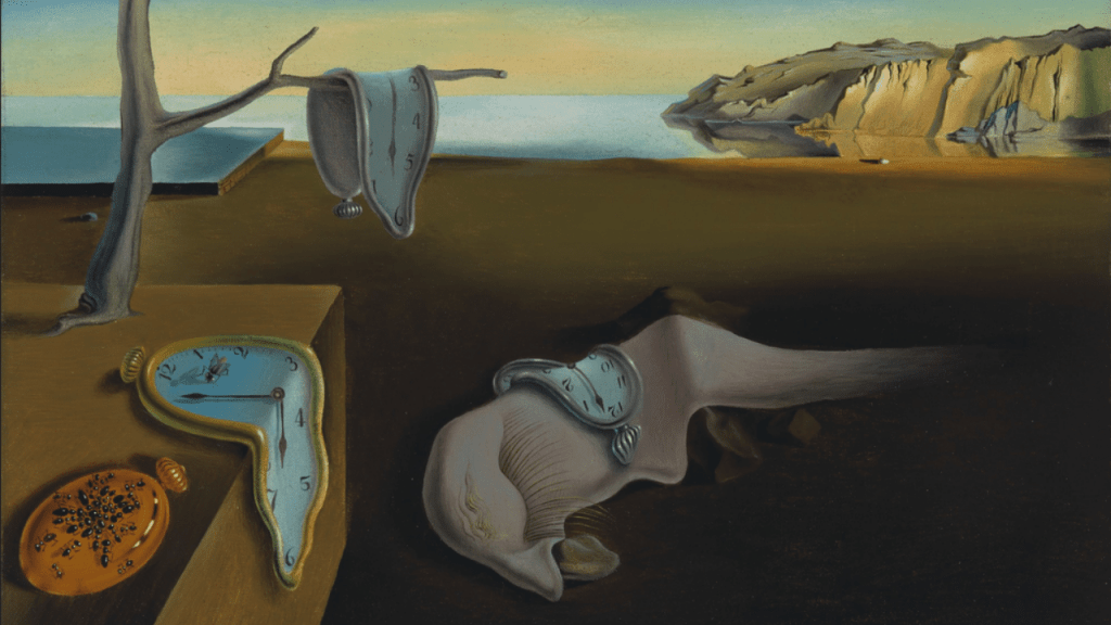 Salvadore Dali painting called The Persistence of Time.